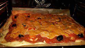 vegane, glutenfreie Pizza